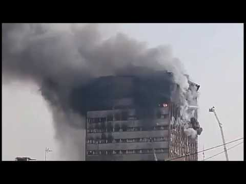 Tehran Plasco Building Collapse w/ audio: Explosives Must Be Investigated