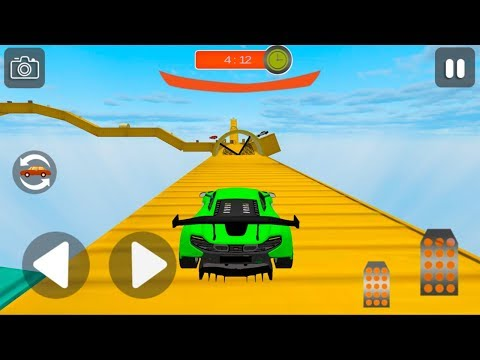 Mega Stunt Racing Cars Extreme GT 2019 -  Impossible Car Stunts 3D - Android Gameplay