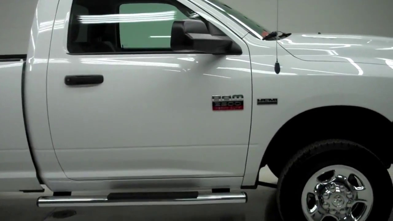 B5190 2011 Dodge Ram 2500 REGULAR-LONG-ST-5.7L HEMI-4WD-1 OWNER www.LENZAUTO.com $26,497 - YouTube