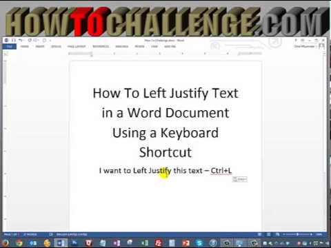 how to set justification in word