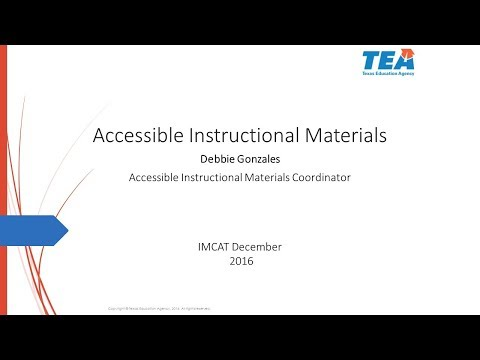 2016 IMCAT Presentation—Accessible Instructional Materials