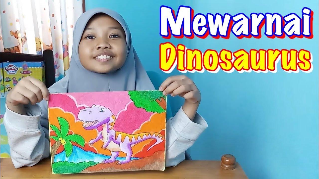 Mewarnai Dinosaurus Dengan Crayon Faber Castell Oil Pastels