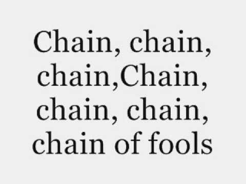 Aretha Franklin - Chain of Fools - Lyrics.