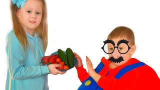 Eva teaches Vova to eat properly and exercise Story by Eva Surprise