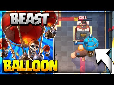 Download Youtube: BEAST GIANT BALLOON DECK w/ No Legendary Cards! :: Arena 7 to Arena 11 :: Clash Royale Strategy