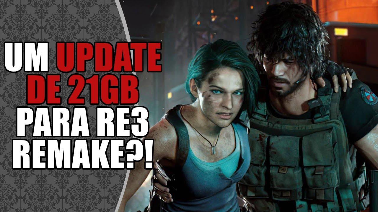 DROPS: Update de 21GB no Resident Evil 3 Remake? #Shorts