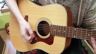 Guild D-240E Ltd Ed Flame Mahogany acoustic-electrc guitar demo at Basone