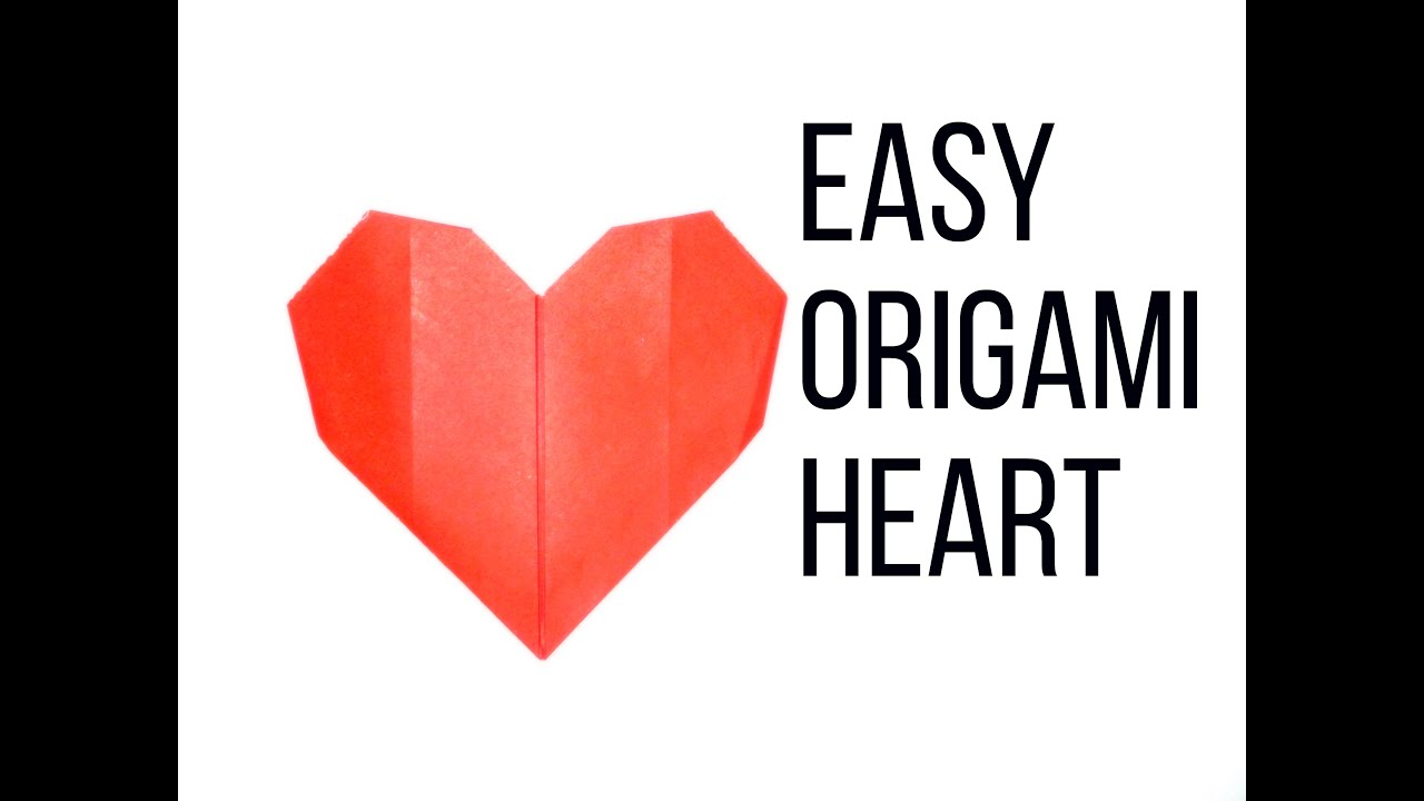 Easy Origami Heart || Simple Paper Heart Instruction - YouTube - photo#32