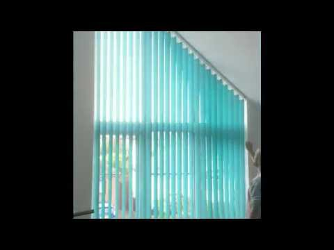 Vertical blinds for sloping windows Kent & London  - Emanuel's Curtains blinds and shutters