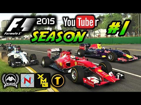 F1 2015 YouTuber Championship #1: IT BEGINS!!!