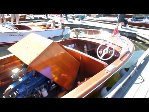 1956 Chris Craft Holiday, ( A fully restored wooden, inboad, flathead, 3 carb boat )