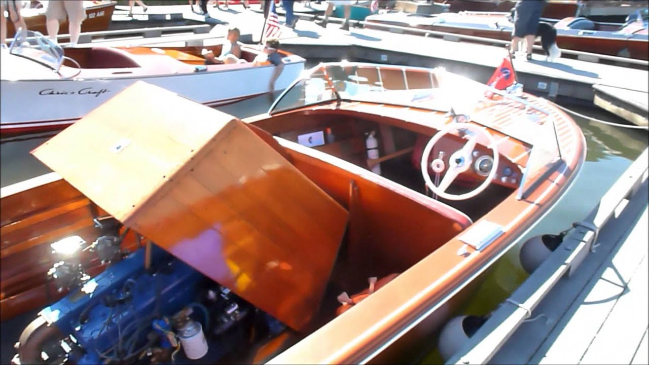 Chris Craft Boats >> 1956 Chris Craft Holiday, ( A fully restored wooden, inboad, flathead, 3 carb boat ) - YouTube
