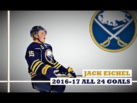 Jack Eichel (#15) ● ALL 24 Goals 2016-17 Season (HD)