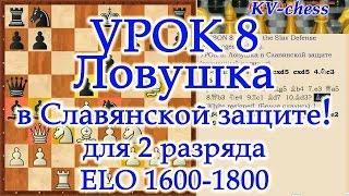 Ловушка в Славянской защите (разменный вариант) - Урок 8 для 2 разряда.