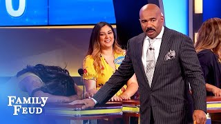 Guys, is your PACKAGE like THIS SNAKE?   Family Feud