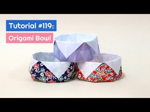 DIY Origami Bowl Tutorial   The Idea King Tutorial #119