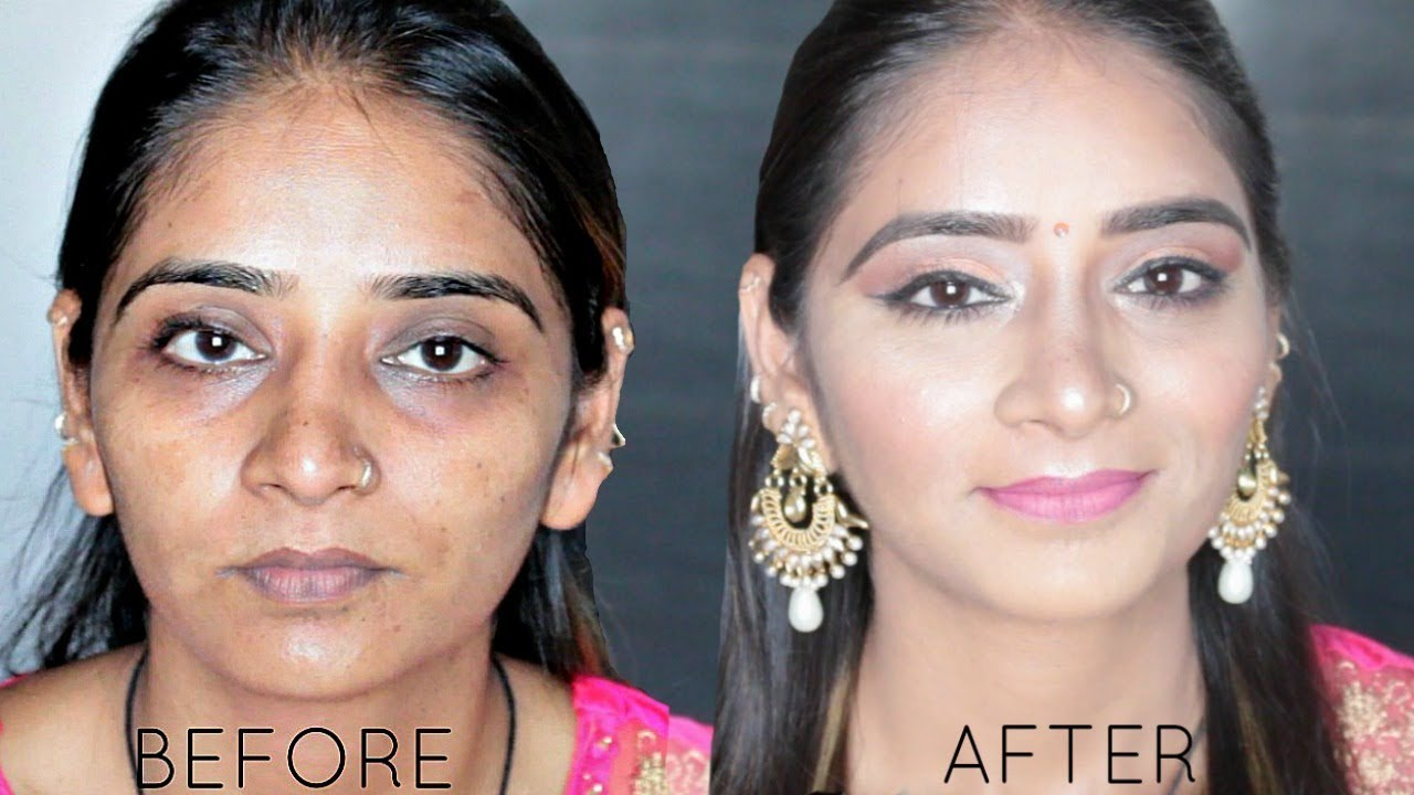 Before After Indian Make Up Transformation Salvi Trivedi Youtube