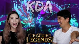 K/DA - POPSTARS! LEAGUE OF LEGENDS KDA MUSIC VIDEO REACTION!!
