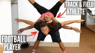 Couple Yoga Challenge + College Athletes = HILARIOUS😩😂