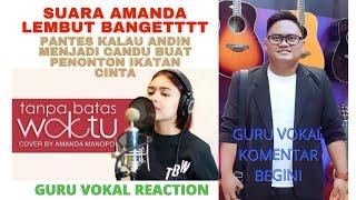 Download lagu Amanda Manopo - Tanpa Batas Waktu (Cover)   SUARANYA LEMBUUUTTT !!! GEMESSS !!   Guru Vokal Reaction