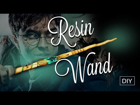 How to make Wizard Wand 💫Harry Potter inspired - Resin DIY