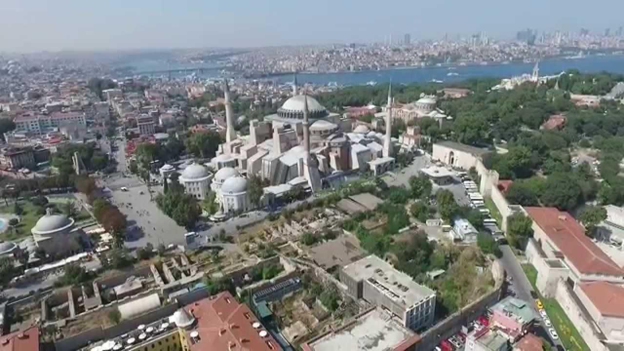 Istanbul Drone View Hagia Sofia Youtube