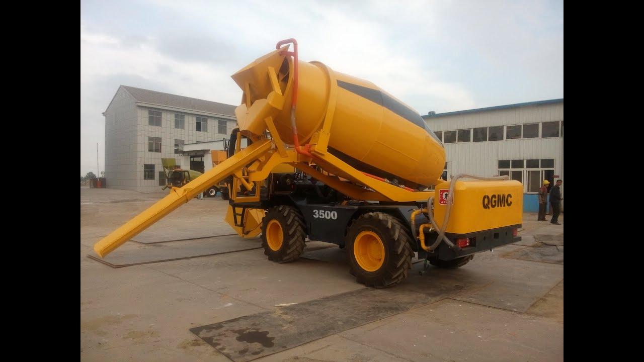 اتو میکسر mobile concrete mixer with self loading fiori carmix QGMC ...