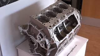 Bentley Engine Block manufactured using Cogsdill ZX Range at Grainger and Worrall