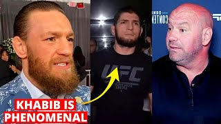 Conor McGregor REACTS to Khabib. 30-0 incoming, No vacant or interim title at LW, Dana White..