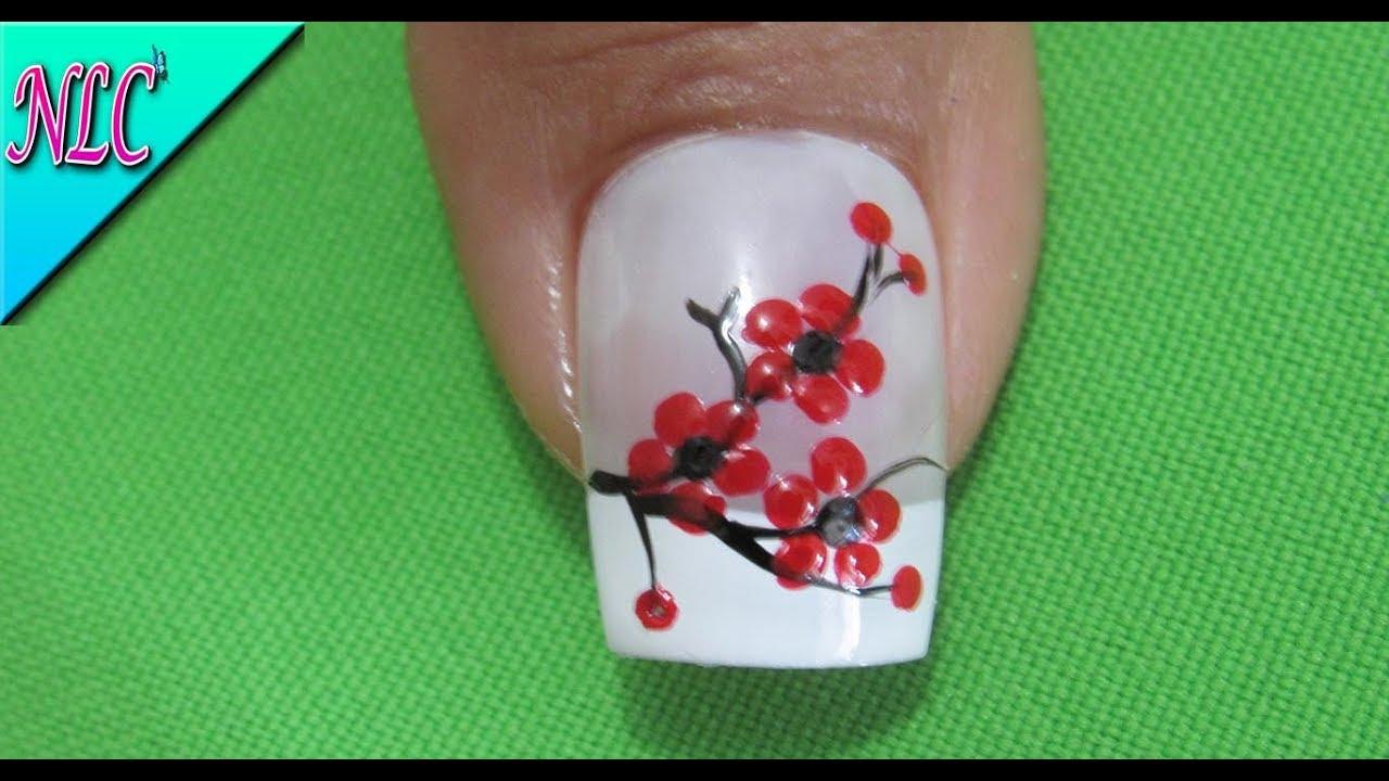 DECORACIÓN de UÑAS FLORES FÁCIL DE HACER - FLOWERS nail art -COMO ...