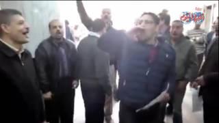 فيديو| إضرابات العاملين بالتأمين الصحي في المحافظات احتجاجا على تدني المرتبات