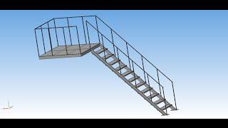 Пожарная лестница - Оборудование: Металлоконструкции(Построение 3D модели пожарной лестницы с помощью библиотеки - Металлоконструкции 3D (Оборудование: Металлоко..., 2015-03-06T08:14:02.000Z)