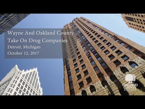 Wayne and Oakland County take on Drug Companies