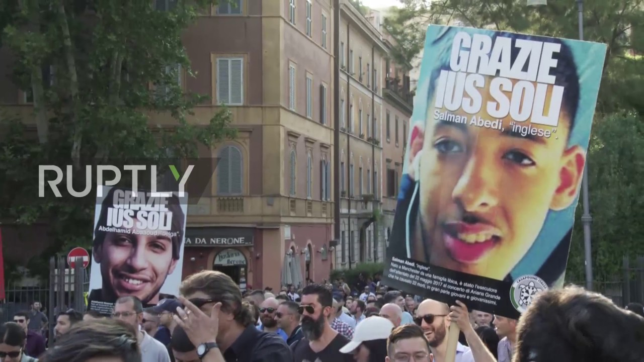 Italy CasaPound march in Rome against nationality laws for secondgeneration migrants  YouTube