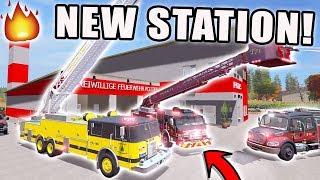 NEW STATION + TRUCKS | SAWMILL FIRE! | FARMING SIMULATOR 2017