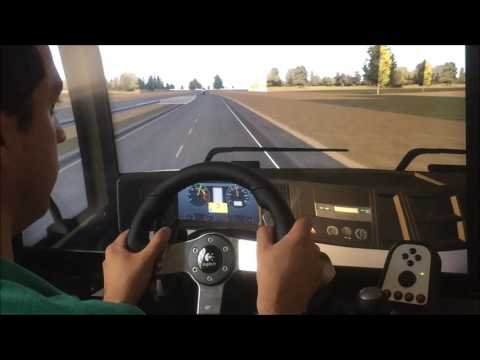 Heavy Truck Simulator - Real POV - Playing on PC.