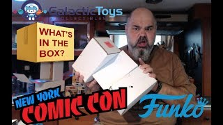 2018 NYCC 3 Galactic Toys Funko Pop Mystery Box Unboxing...