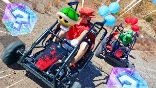 EXTREME MARIO KART BATTLE IRL!! *First to Pop Balloons Wins!*
