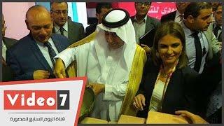 بالفيديو.. وزير المالية السعودى يضع حجر الأساس لتطوير