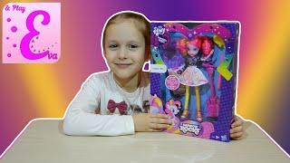 эквестрия герлз пинки пай распаковка куклы eva and play