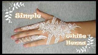 Tutorial White Henna Motif Gulf Simple