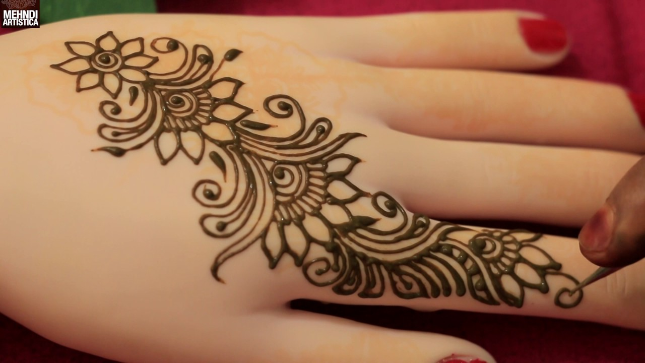 Elegant Henna Designs: Twisted Floral Easy Elegant Henna Mehndi Designs