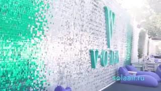 VODA живая блестящая стена  по технологии SolaAIr(Креативная наружная реклама, Полностью автономная система, не потребляет электричества и других ресурсов,..., 2016-08-28T17:47:16.000Z)
