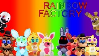 FNAF plush rainbow factory :song by wooden toaster: rainbow experiments