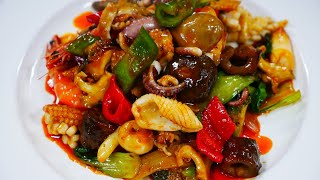[4K] 중식 팔보채  Stir-fried Seafoo…