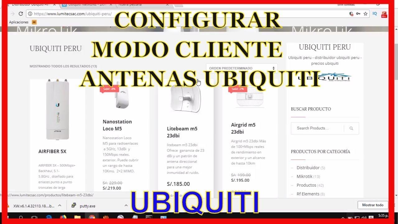 Configurar Equipos Ubiquiti Modo Cliente 2018 Litebeam M5 23dbi