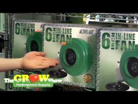 The Grow Show Indoor Hydroponic Inline Exhaust Fan