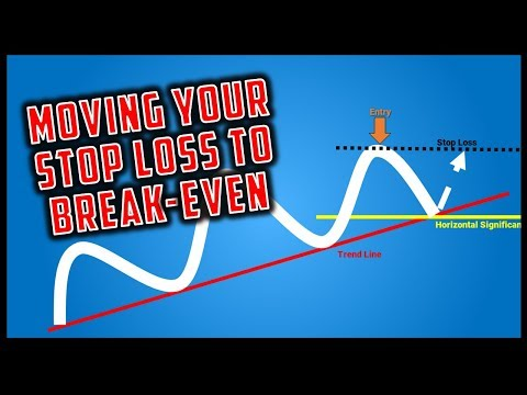 A Simple Rule for Moving Your Stop Loss to Break-Even / Profit