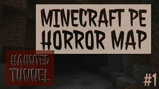 Horror Comedy!!! MCPE Horror Map Haunted Tunnel#1