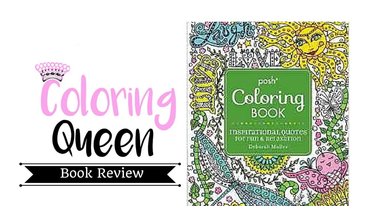 Adult coloring book with quotes - Posh Inspirational Quotes Adult Coloring Book Review